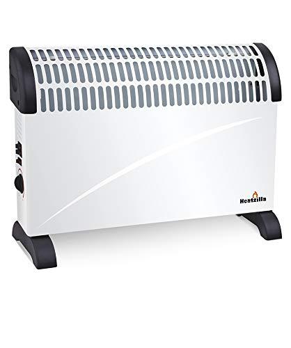 Sytech elektrische ventilatorkachel 2000 W met thermostaat regelbaar, wit