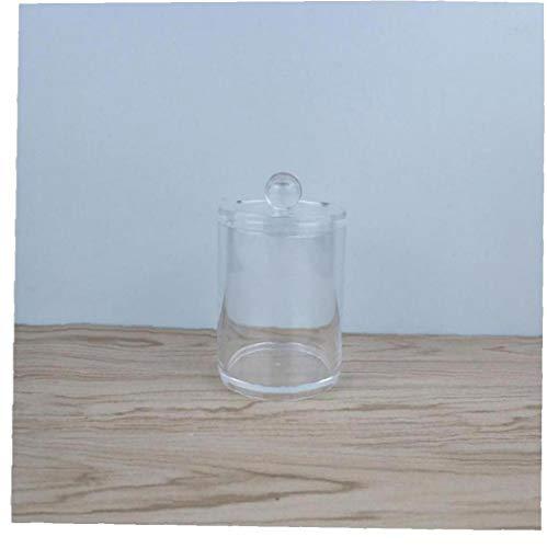 Qtip Distributeur Apothicaire Pot Support De Stockage Canister Clair Pot En Plastique Pour Boule De Coton Coton Q-tips Écouvillon Coton Rounds