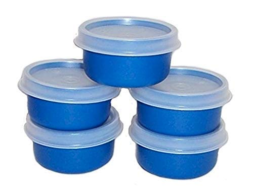 Tupperware Smidget Container 1oz Set of 5 Blue