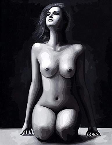 TIEZI Nackte Schönheit im Schwarz-Weiß-Stil Leinwanddruck 1000 Teile Puzzle Adult Wooden Large Puzzle personalisierte pädagogische Spielzeug Psychedelisch Puzzle