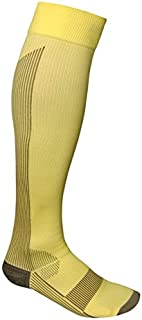 Total Vein Systems BOOST Individual Recreational 20-30 mmHg Athletic Compression Therapy Socks, 1 pair, Yellow / Brown, Size D