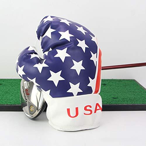 SJJOZZ Golf Club Abdeckung Multi-Funktions-Golf Erster Holz Pole Kugelschutz Boxhandschuhe Art Wasserdicht Design 2 Modelle verfügbar (Color : Blue)