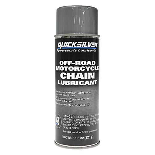 Quicksilver 8M0130603 Off-Road Motorcycle Chain Lube – 11.5 Ounce