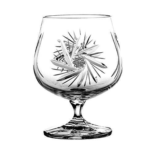 Crystelle aljulia 3362 Cognac Cristal de Verre, 250 ML, 6,50 x 6,50 x 11 cm, 6 unités