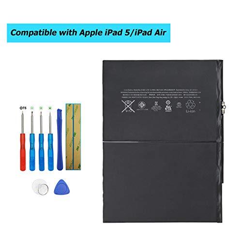 Upplus Ersatz Akku A1484 Kompatibel Für Netbook Pad Tablet iPad 5, Air, Mini Air, A1474, A1475, MD785LL/A, MD786LL/A wie 6712-6700, A1484 with Toolkit