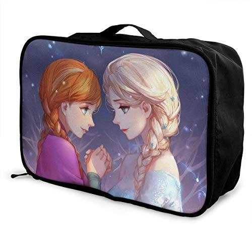 Anna Elsa Princ Travel Lage Duffel Bag Valigia leggera Borse portatili per donna Uomo Bambini Impermeabile Grande capacità Bapa