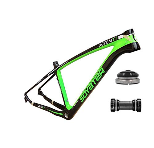 WANGYONGQI 27.5 Full Carbon Fiets Frame Tapered Helm 16 Inch Mountainbike Met Schijfrem