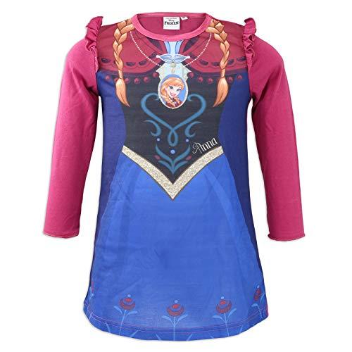 Disney Frozen 2 Nachthemd mit Volant - Full Print - ELSA und Anna - Mädchen - 4/8 Jahre 104 cm(4 Jahre)