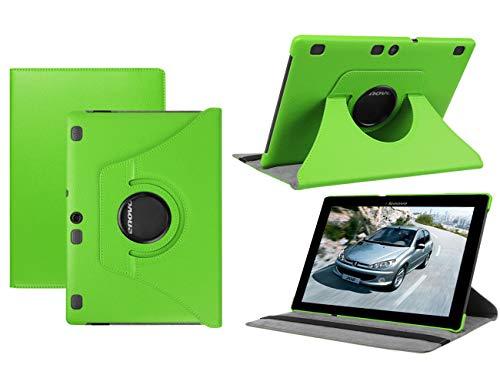 HereMore Lenovo TB-X103F/Tab 2 A10-30/Tab 2 A10-70 Hülle, 360 Grad Rotierend Schutzhülle Tasche für Lenovo Tab 3 10 Plus/Tab 3 10 Business 10,1 Zoll Tablet, Grün (mit Auto Schlaf/Wach Funktion)