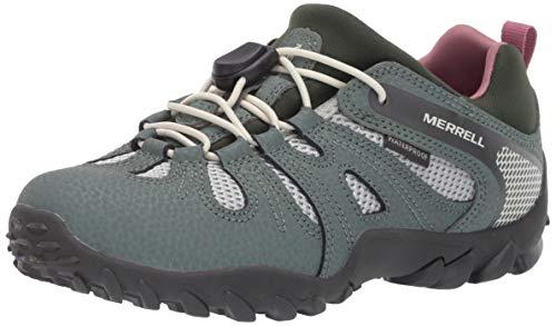 Merrell Chameleon 8 Stretch Waterproof, Chaussures de Fitness Mixte Enfant, Vert (Laurel), 32 EU