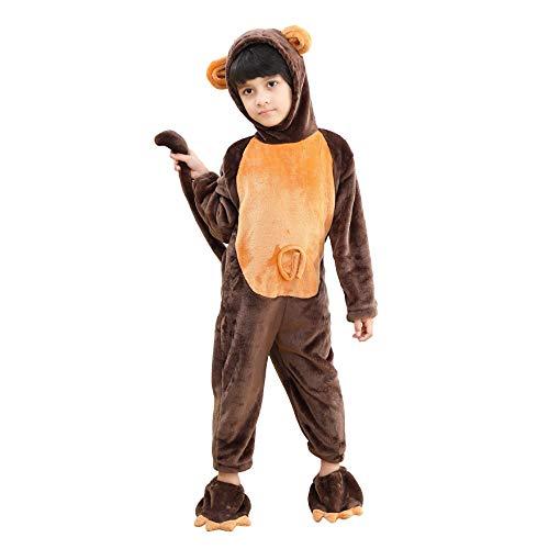 LOLANTA Jungen Onesie Affen Cosplay Kostüm mit aufgesetztem Schuhüberzug (4-6 Jahre)