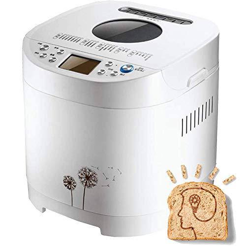 PDXGZ Panificadora, Máquina de Masa de Mermelada de Yogur Multifuncional, Menú de nutrición de 21 artículos, Pantalla LCD,Sin Gluten,Temporizador Digital,Amasar, Levadura Y Hornear, 650 Vatios