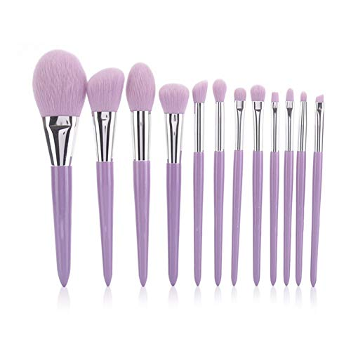ZXIAOMEI 12 Makeup Brushes High Quality Synthetic Concealer Foundation Eyeshadow Make up with Tapered Handle