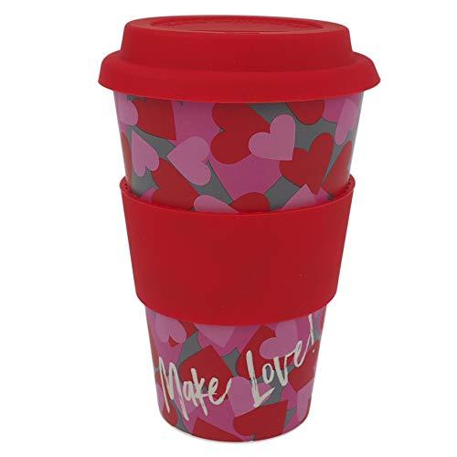 ebos Coffee-to-Go Taza de bambú – Sin melamina | Vaso reutilizable de...