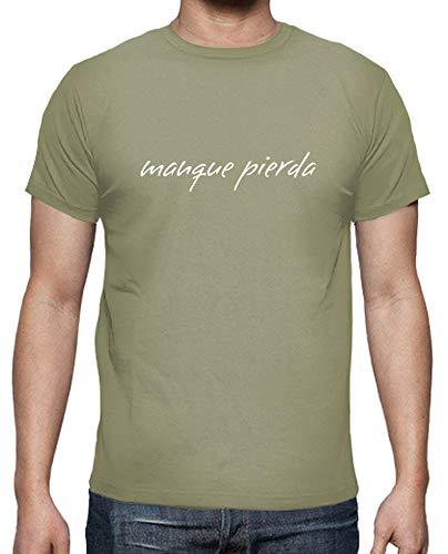 latostadora - Camiseta Manque Pierda para Hombre Caqui XXL