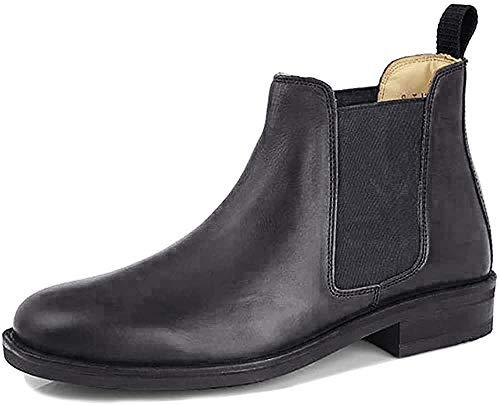 Roamers - Botas de piel para hombre, acolchadas, color negro, talla 47