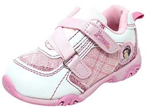 Disney Princess meisjes sneaker babyschoenen kleine kinderen schoenen met klittenbandsluiting Snow White Pink Glitter Maat 20-24