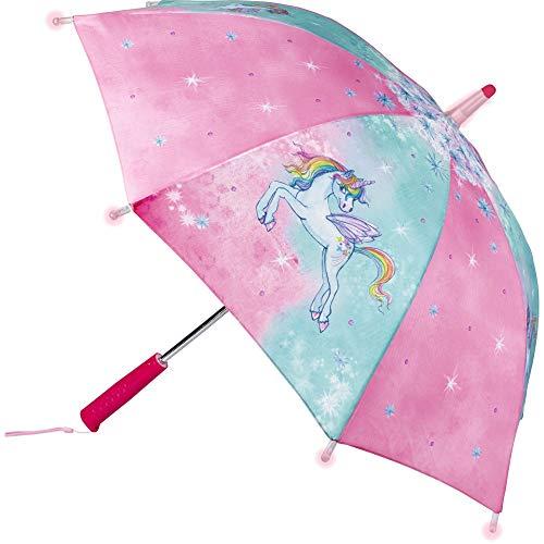 Die Spiegelburg 14958 Regenschirm Einhorn-Paradies (mit Lichteffekten)