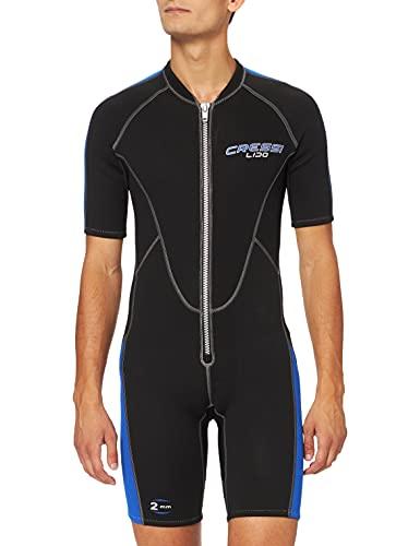 Cressi Herren Neopren Schwimmanzug Lido, schwarz/blau, M, LV455003