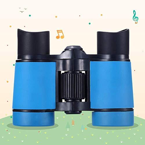 Concierto De Telescopio para Aficionados Al Aire Libre, Binoculares para Niños, Observación De Aves para Niños Que Acampan, con Mira De Objetivo con Lupa, Azul