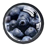 Blueberry 4333034 Lot de 4 poignées rondes pour placard de cuisine, armoire, commode, porte, décoration d'intérieur