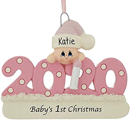 Baby Girl First Christmas Ornament 2018