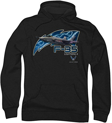 Air Force - - F35 Hoodie Homme, Large, Black
