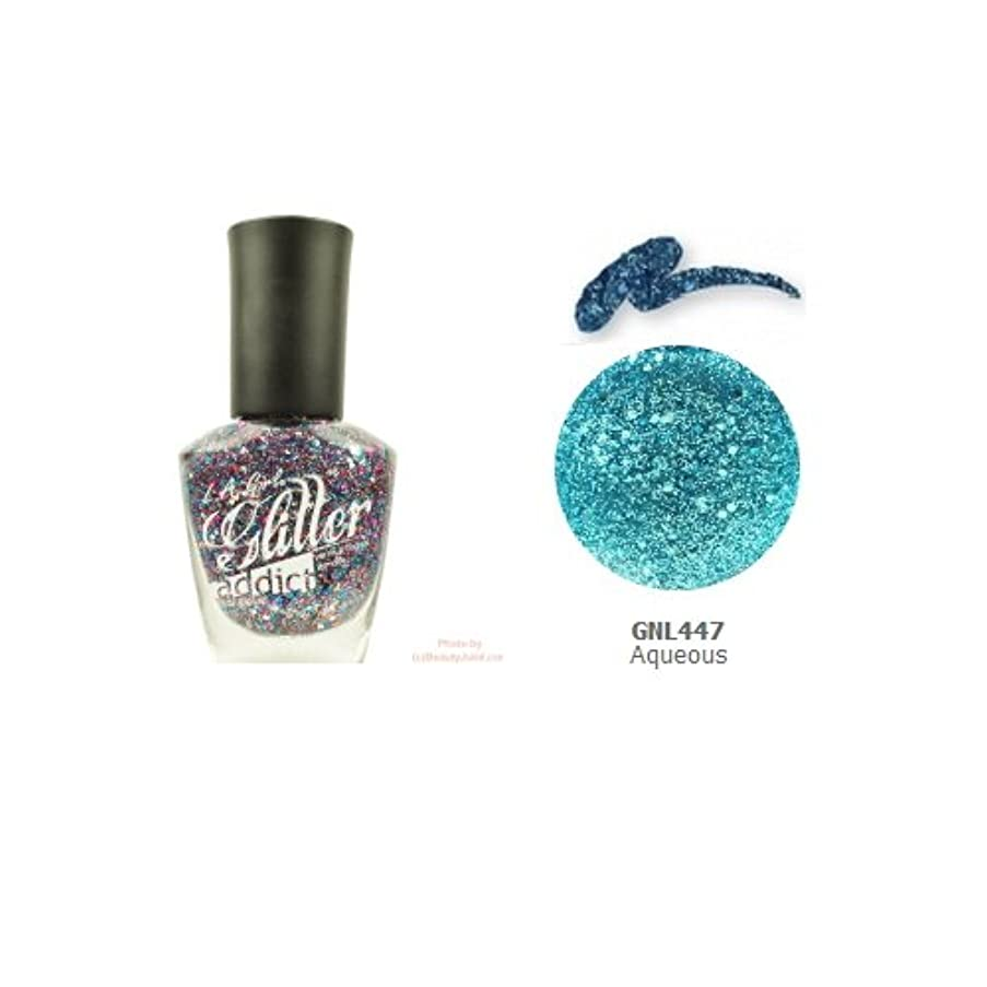 薄める刃シンボル(3 Pack) LA GIRL Glitter Addict Polish - Aqueous (並行輸入品)