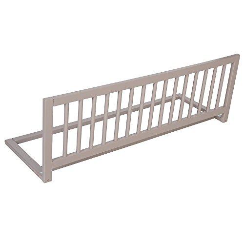Safetots - Barrera protectora de cama, madera, color gris