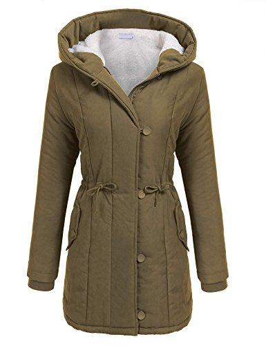 Zeagoo Mujeres abrigo largo caliente Chaqueta con capucha Ropa de invierno