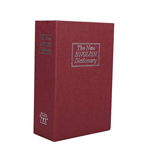 Cassaforte a Forma di Libro con Combinazione a 3 Cifre Salvadanaio Cassetta Portavalori a Forma di Libro Casseforti di Diversione Armadietto Nascosto