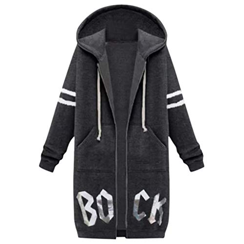 Realde Damen Mantel Sweatshirt Hoodies Lange Jacke Langarm Sport Lässig Outwear Slim Fit Kapuzenpullover Winterjacke Kleidung Kapuzenjacke Übergangs Outwear mit Taschen
