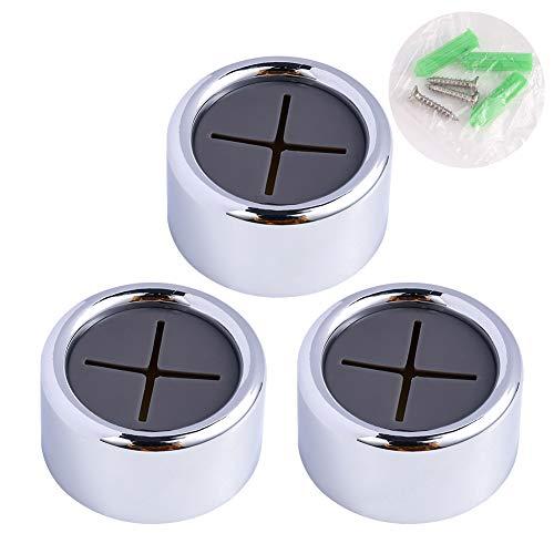 Xinzistar 3 Stück Handtuchhalter Ohne Bohren Selbstklebend Handtuchhaken Runf Chrom Türhandtuchhalter Geschirrtuchhalter für Bad Küche Haushalt