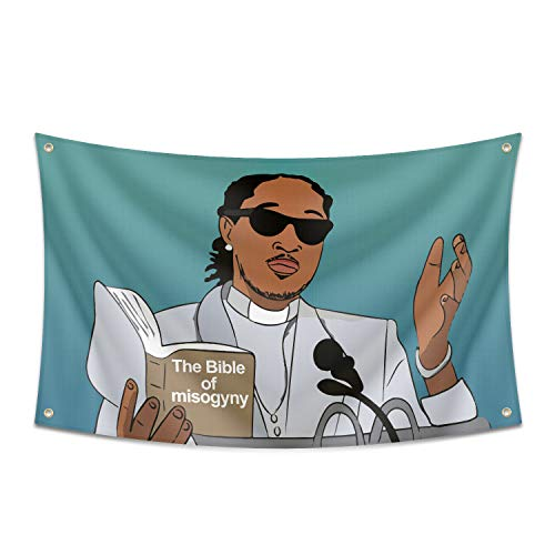 To The Streets Flag The Bible of Misogyny 3x5 Ft Banner Funny Flags UV Resistance Fading & Durable Man Cave Wall Flag with Brass Grommets for College Dorm Room,Outdoor,Parties,Bedroom,Decor