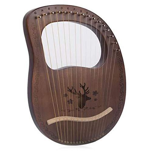 Nrpfell Lyre Harp 16 Saiten Harfe Heptachord Mahagoni Lye Harfe mit StimmschlüSsel für Musikliebhaber Anf?Nger, Vintage Farbe