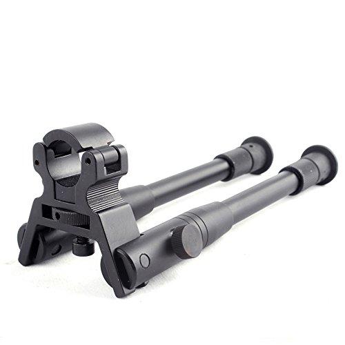"AUKMONT 8"" to 10"" Barrel Clamp-on Adjustable Hunting Rifle Bipod 4 Picatinny & Weaver Rail"