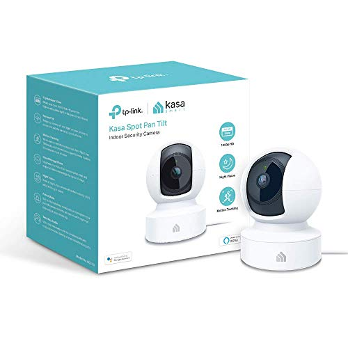 Kasa Indoor Camera, 1080P HD Smart Wifi Security Pan and tilt Camera, Night Vision, Motion Detection, Remote Monitor, Works with Google Assistant and ALEXA (KC110)