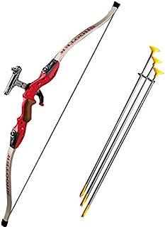 弓矢 アーチェリー リカーブボウポインター・サイトピン・肩掛けホルダー付き 玩具・レジャー 赤