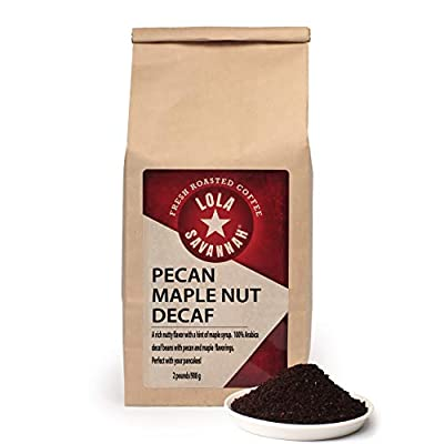 Lola Savannah Pecan Maple Nut Ground Coffee - Crafted Rich Pecan Nutty Flavor & Hint of Maple Syrup | Decaf | 2lb Bag