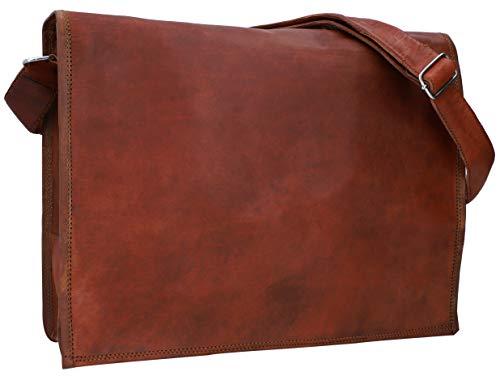 Gusti Maletín de Cuero MAX Cartera 15,6' portafolios Hombre marrón Cuero