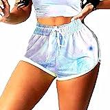 ArcherWlh Legging Sport Femme,Sports dégradés Set Sleevers Barbel Breaker + Short de Yoga-Short Bleu Clair_XL