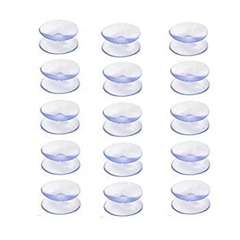 QMseller 15 Pcs Double Sided Suction Cups for Glass Table Top to Keep The Glass Table Top from Sliding Glass Table Top Bumpers,Glass Table Top Spacers