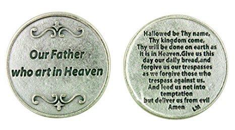St Joseph's Catholic Giftshop on Amazon Nuestro Padre oración. Nuestro Padre oración en un símbolo. La oración del Señor. Oración Token. Oración Moneda Bolsillo, Cartera o Bolso.