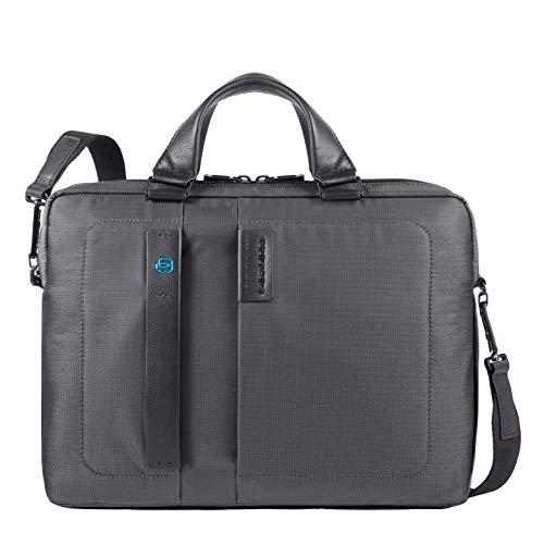 Piquadro P16 Laptoptasche mit Fach für iPad Air/Gerät Connequ für die Verbindung mit dem Smartphone 38.5 cm Grey