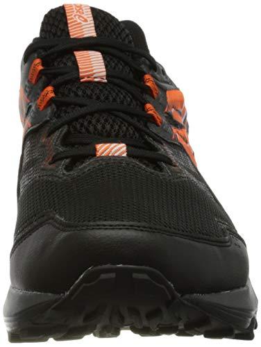 Asics Gel-Sonoma 6 G-TX, Trail Running Shoe Hombre, Black/Marigold Orange, 42.5 EU