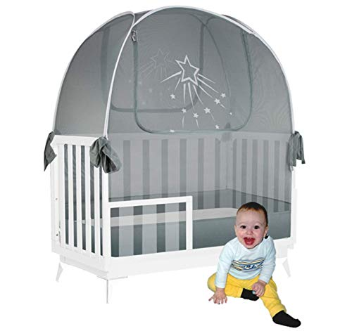 Aussie Cot Net Baby Crib Safety Tents – Premium Crib Tent to Keep Baby from Climbing Out – See-Through Crib Netting – Mosquito Net – Pop-up Crib Tent
