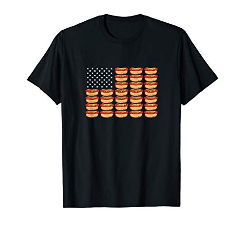 Hot Dog American Flag Patriotic T-Shirt