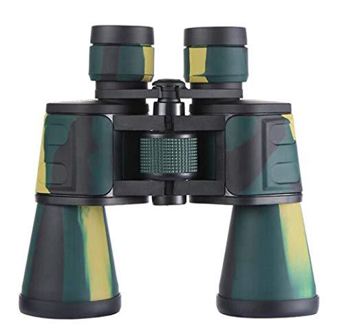XWLCR Binocolo Mimetico all'aperto per Adulti, binocolo grandangolare per oculare Grande HD 10X50, Viaggio di Caccia con telescopio Impermeabile Riempito di azoto - Prisma BAK4 Rivestito in FMC