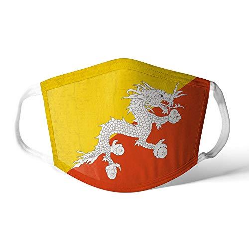 M&schutz Maske Stoffmaske Klein Asien Flagge Bhutan/Bhutanese Wiederverwendbar Waschbar Weiches Baumwollgefühl Polyester Fabrik