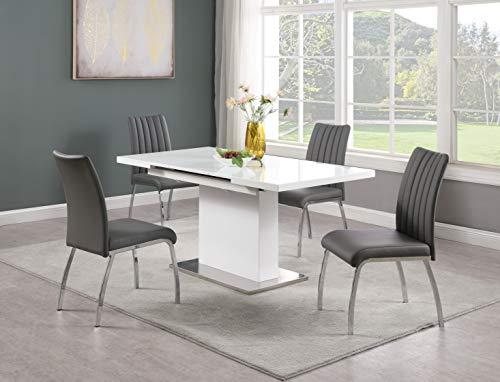 MILAN Dining, Grey, 5-Piece Set